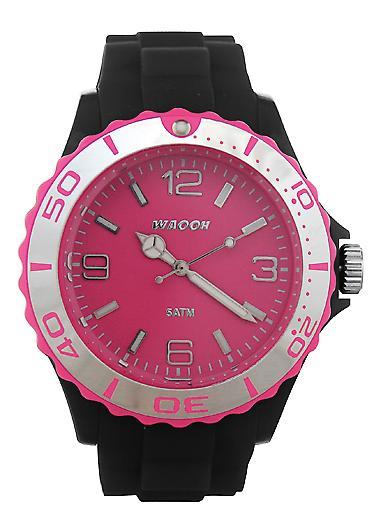 Waooh - Watch MC42 Black Bezel Silver Dial Color &