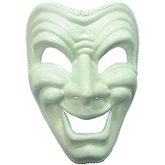 Máscara feliz. Branco.