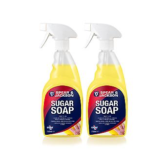 Spear & Jakcson 2 x 750ml Ready-to-Use Sugar soap-grease, grime,nicotine remover