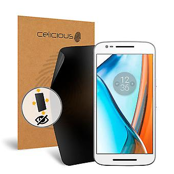Celicious Privacy oltre 4 vie Anti-Spy Screen Protector Film compatibile con Motorola Moto E3 del filtro
