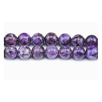Aktionsdel 45 + lilla Lepidolite 8mm almindelig runde perler GS4988-2