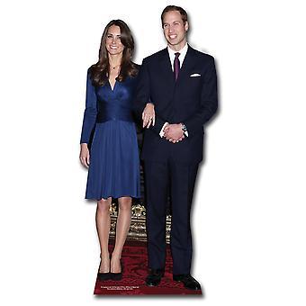 Prince William and Kate Middleton (Royal Wedding 2011) Lifesize Cardboard Cutout / Standee