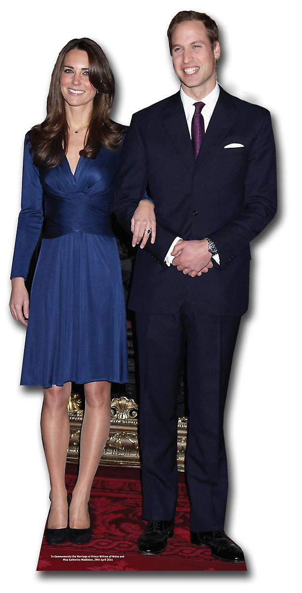 Prince William and Kate Middleton (Royal Wedding 2011) Lifesize Cardboard Cutout / Standee