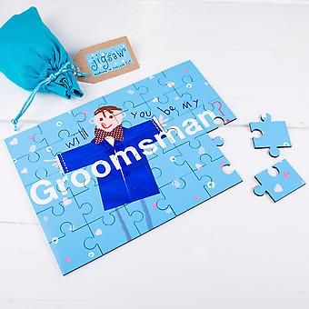 Will You be my Groomsman Wedding Secret Message Jigsaw