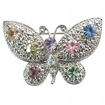 Jahrgang mehrfarbigen Strass Dainty & Sophisticate Schmetterling Brosche
