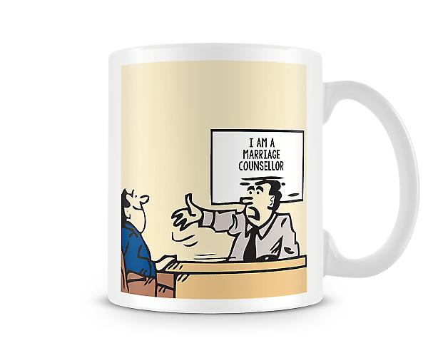 Decorative I'm A Marriage Counsellor Printed Mug