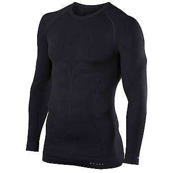 Falke-Maximum warme enge Passform langärmliges Hemd - schwarz
