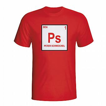Peter Schmeichel Denmark Periodic Table T-shirt (red) - Kids