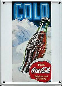 Coca Cola Ice Metal Postcard / Mini Sign