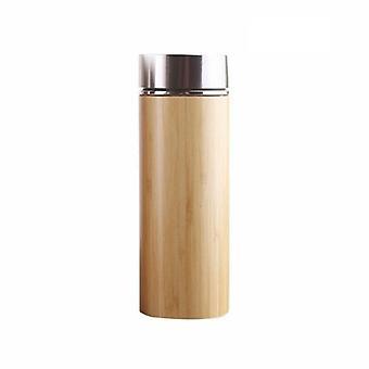 Termo, bambú y acero inoxidable 450 ml