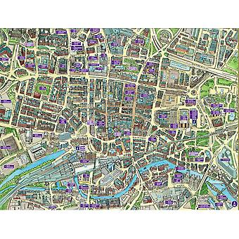 Cityscapes Street Map Of Leeds 400 Piece Jigsaw Puzzle 470mm x 320mm (hpy)