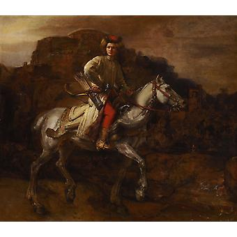 The Polish Rider, Rembrandt Harmenszoon van Rijn, 50x43cm