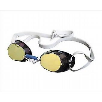 BECO Swedish Competition Swim Goggles- Gold Mirror Lenses - Black