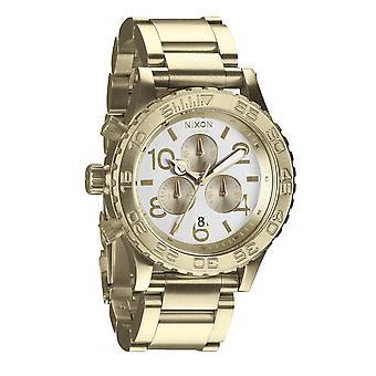 Nixon 42-20 Chrono Champagne/Gold Chronograph (A037219)