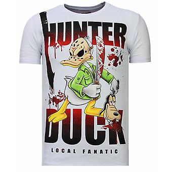 Hunter Duck-Rhinestone T-shirt-White