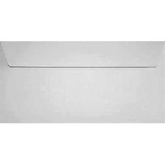 Vitt skal/tätning DL färgade vita kuvert. 120gsm FSC hållbart papper. 110 mm x 220 mm. plånbok stil kuvert.