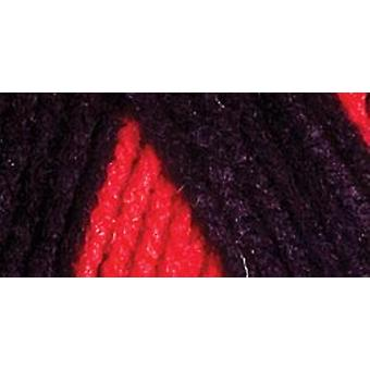 Red Heart Team Spirit Yarn Red Black E797 952