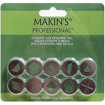 Makin's Professional Ultimate Clay Extruder Discs 10 Pkg Set A 35155