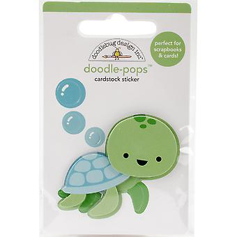 Doodlebug Doodle-Pops 3D Stickers-Tiny Turtle AA4976