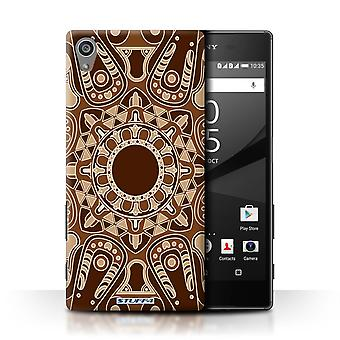 STUFF4 Case/Cover for Sony Xperia Z5/5.2/Octagon/Sepia/Mandala Art