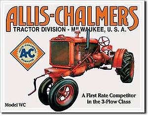 Allis Chalmers Model U Tractor metal sign  (de)