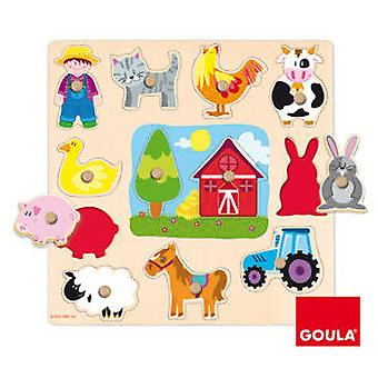 Goula Silhouette Puzzle Farm (Toys , Preschool , Puzzles And Blocs)