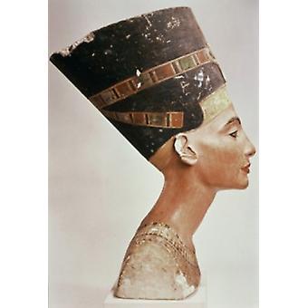 Buste van koningin Nefertiti (8 x 10) ca1352-36 v.Chr kalksteen Staatliche Museen Preussischer Kulturbesitz (8 x 10) Berlijn Duitsland Poster Print (8 x 10)