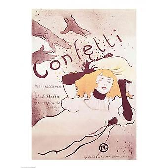 アンリ ・ ド ・ トゥールーズ = ロートレックによるポスター印刷を紙吹雪 1893