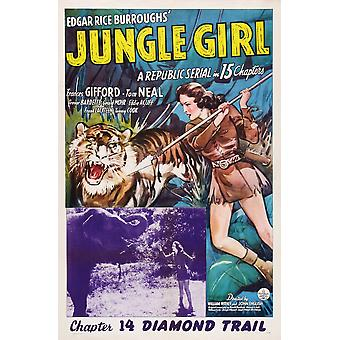 Jungle Girl Us Poster Art Inset Frances Gifford Chapter 14 Diamond Trail 1941 Movie Poster Masterprint