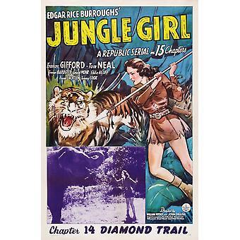 ジャングル ガール私たちポスター アートはめ込みフランシス ・ ギフォード第 14 章ダイヤモンド トレイル 1941 映画ポスター Masterprint