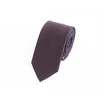 Narrow tie Fabio Farini Brown - Red