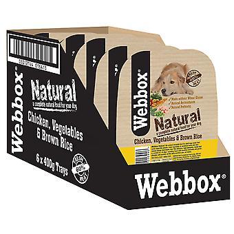 Webbox naturlige bakker hund kylling brune ris & Veg 400g (pakke med 7)