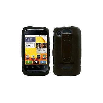 Body Glove Snap-On Case with Belt Clip for Motorola Citrus WX445 (Black) (Bulk P