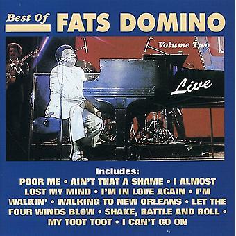 Fats Domino - dominó de las grasas: Vol. 2-ofertas de importación de Estados Unidos viven grasas Domin [CD]