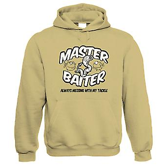 Master Baiter, Mens Funny Fishing Hoodie
