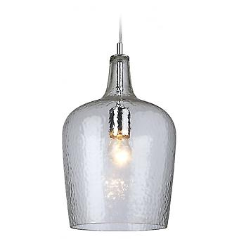 Firstlight Modern Chrome Glass Ceiling Kitchen Bell Shade Pendant