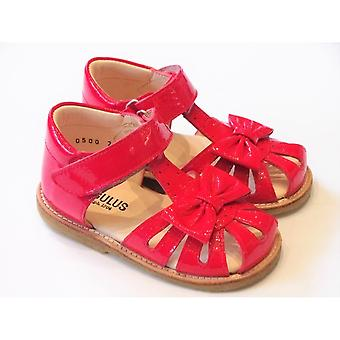 Angulus Angulus 0500-101 Toddler Girls Pink Patent Leather Closed Toe Sandals