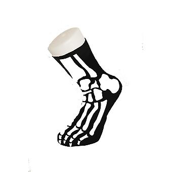 Skelet sokker Halloween knogler horror joke sokker