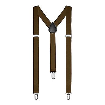 Boolavard� TM Braces / Suspenders One Size Fully Adjustable Y Shaped With Strong
