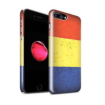 STUFF4 Glanz zurück Snap-On Handy Hardcase für Apple iPhone 7 Plus / Tschad/Chadian Design / Sammlung afrikanischer Flagge
