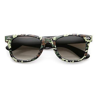Unisex Camoflauge Print Active Horn Rimmed Sunglasses