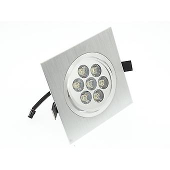 I LumoS High Quality Epistar 7 Watts Silver Square Aluminium LED Spot Downlight