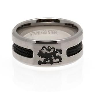 Chelsea Black Inlay Ring Small