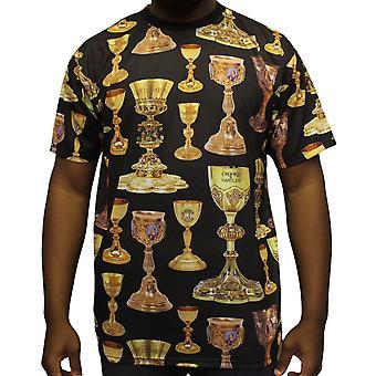 Skurkar & slott hög effekt T-Shirt svart Multi