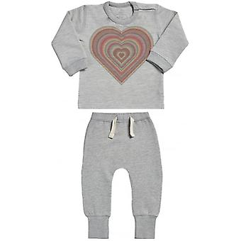 Verwend rotte Warm hart Sweatshirt & Joggers Baby Outfit Set