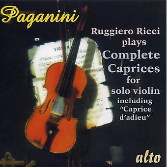 N. Paganini - Paganini: Complete Caprices for Solo Violin [CD] USA import