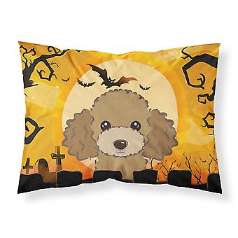 Halloween Chocolate Brown Poodle Fabric Standard Pillowcase