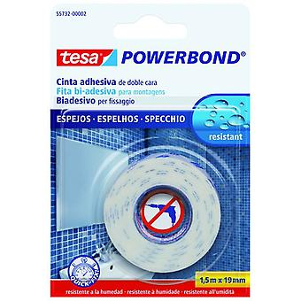 Tesa Powerbond Mirror Double-Sided Self-Adhesive Mounting Tape 1.5M:19Mm