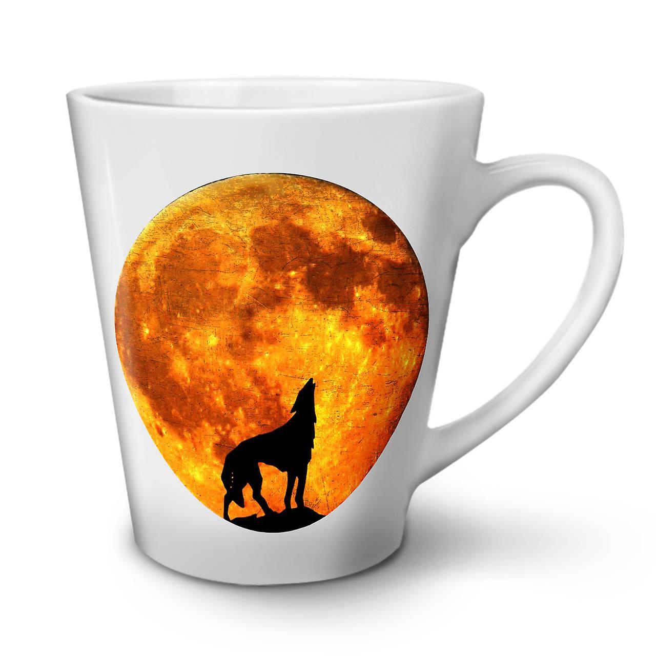 Wolf Nature Animal En Latte Nouvelle 12 Moon Tasse Café Blanche OzWellcoda Céramique Yb76gyvf