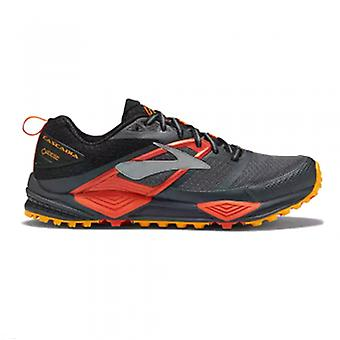 Cascadia 12 GTX Mens D STANDARD WIDTH Trail Running Shoes Black/Red